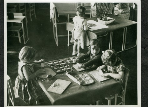 The nursery school in 1933.