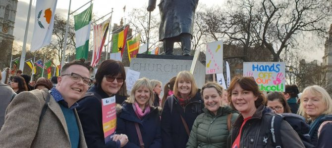 Our Acting Headteacher attended the NAHT support rally in London
