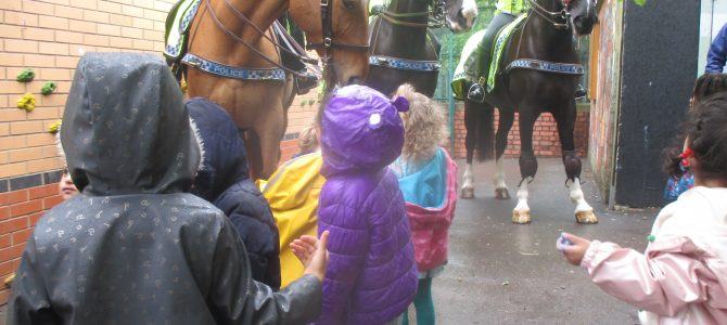 Our recent visit from Police Horses