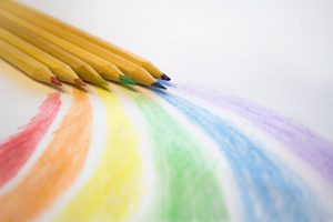 brown colored pencils on white printer paper